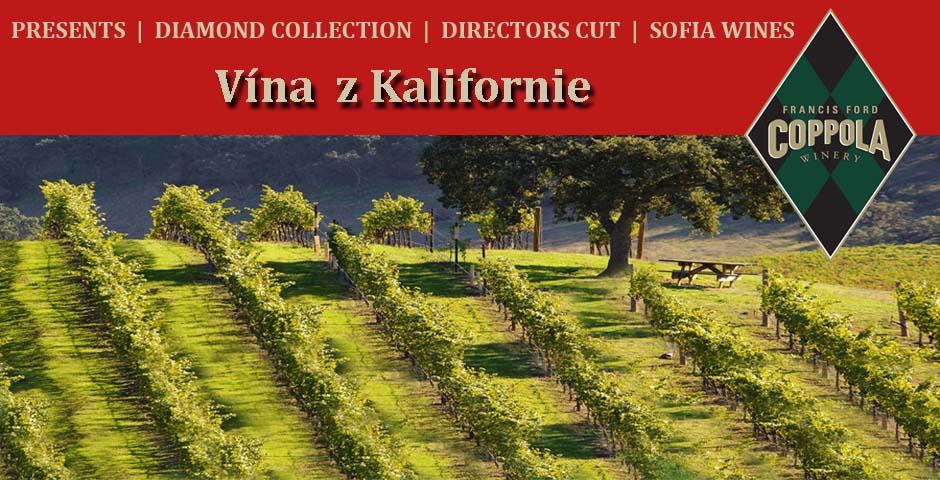Kvalitní vína z Kalifornie od režiséra COPPOLY.